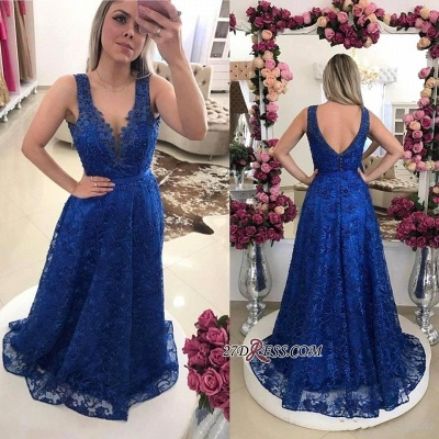 Sexy Royal-Blue Prom Dress UKes UK | Lace Evening Gowns On Sale_1
