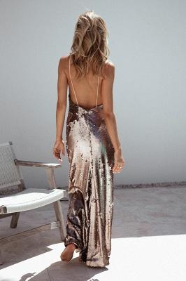 Elegant Sequins V-neck Prom Dress UK Long Mermaid On Sale_4
