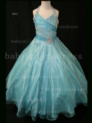Teens Glitz Pageant Dresses for Girls with Inexpensive Formal Gowns Sweetheart Beaded Crystal_2