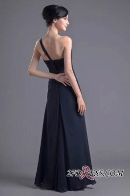 Sexy A-Line Flower One-Shoulder Floor-Length Bridesmaid Dress UKes UK_4