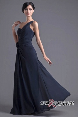 Sexy A-Line Flower One-Shoulder Floor-Length Bridesmaid Dress UKes UK_6