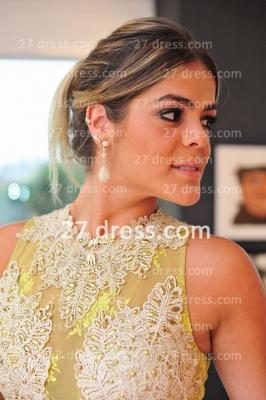 Evening Gowns Sleeveless Chiffon Vestidos De Fiesta Lace Top Prom Dress UKes UK_4