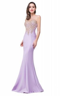Elegant Illusion Appliques Mermaid Prom Dress UK Zipper Floor-length_4