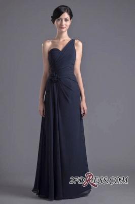 Sexy A-Line Flower One-Shoulder Floor-Length Bridesmaid Dress UKes UK_3