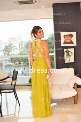 Evening Gowns Sleeveless Chiffon Vestidos De Fiesta Lace Top Prom Dress UKes UK_2