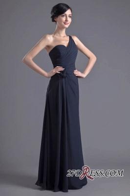 Sexy A-Line Flower One-Shoulder Floor-Length Bridesmaid Dress UKes UK_7