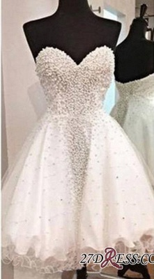 Open-Back Short A-Line Gorgeous Sweetheart Crystal Homecoming Dress UK_3