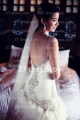 Bateau Wedding Dresses UK Bridal Gowns with Custom Made Backless Cap Sleeves Beaded Appliques Court Train A-line_2