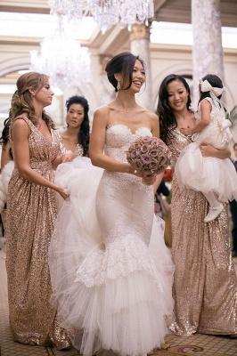 Gorgeous V-neck Sleeveless Bridesmaid Dress UK Floor-longth With Sequins_2