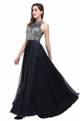 Newest High Neck Crystals Prom Dress UK A-line Zipper_7