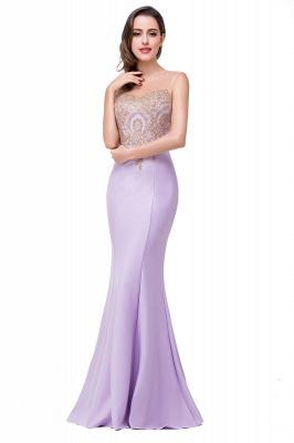 Elegant Illusion Appliques Mermaid Prom Dress UK Zipper Floor-length_1