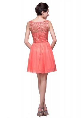 Lovely Lace Sleeveless Hoemcoming Dress UK Short Chiffon_5