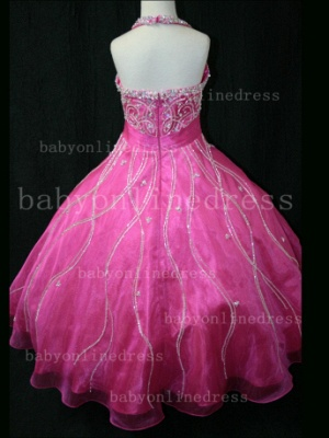 Teens Glitz Pageant Dresses for Girls with Inexpensive Formal Gowns Sweetheart Beaded Crystal_5