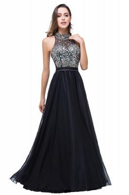 Newest High Neck Crystals Prom Dress UK A-line Zipper_1