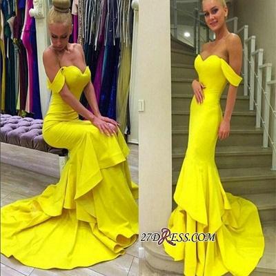 Off-the-Shoulder Elegant Sweep-Train Mermaid Prom Dress UK qq0248_3