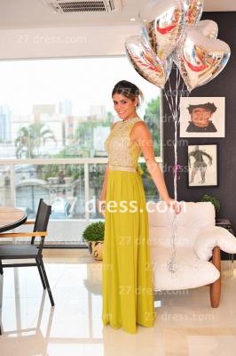 Evening Gowns Sleeveless Chiffon Vestidos De Fiesta Lace Top Prom Dress UKes UK_3