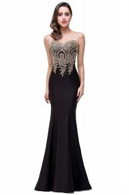 Elegant Illusion Appliques Mermaid Prom Dress UK Zipper Floor-length_7