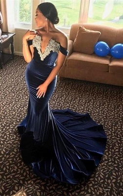 Off-the-Shoulder Mermaid Prom Dress UK | Formal Gowns_1