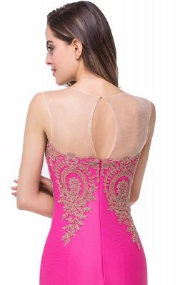 Elegant Illusion Appliques Mermaid Prom Dress UK Zipper Floor-length_9