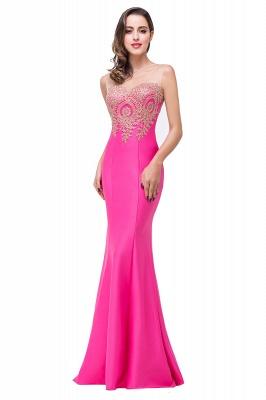 Elegant Illusion Appliques Mermaid Prom Dress UK Zipper Floor-length_6