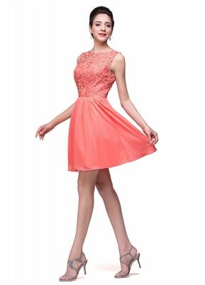 Lovely Lace Sleeveless Hoemcoming Dress UK Short Chiffon_3