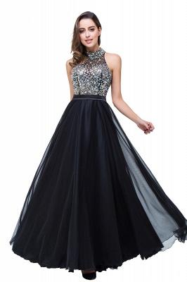 Newest High Neck Crystals Prom Dress UK A-line Zipper_6