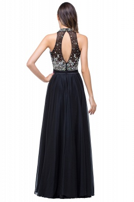 Newest High Neck Crystals Prom Dress UK A-line Zipper_3