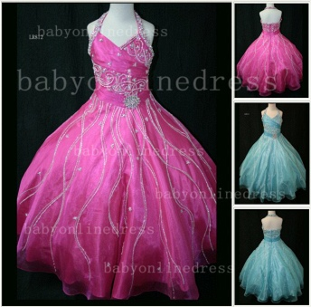 Teens Glitz Pageant Dresses for Girls with Inexpensive Formal Gowns Sweetheart Beaded Crystal_1