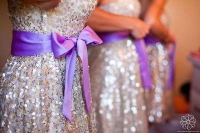 Gorgeous Sleeveless Short Bridesmaid Dress UK Sweetheart Bowknot Sequins_5