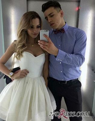 A-line White Sweetheart-neck Cute Short Homecoming Dress UK_2