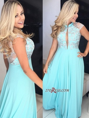 Cap sleeve chiffon prom Dress UK, long evening Dress UK_2