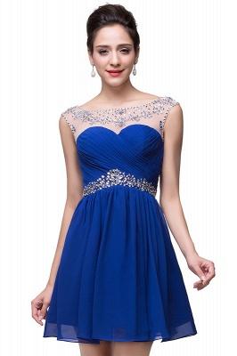 Gorgeous Royal Blue Short Chiffon Homecoming Dress UK Cap Sleeve Beadings Cocktail Dress UK CPS094_1