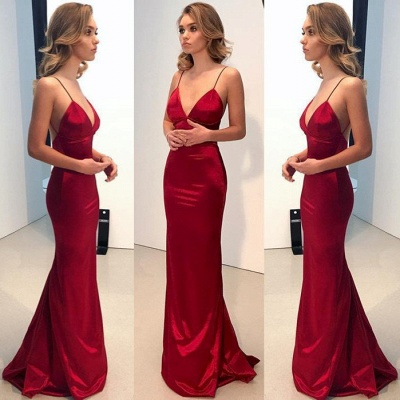 Spaghetti Straps Long Prom Dress UK | Mermaid Evening Party Gowns BA9271_3