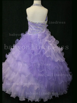 Beaded Organza Girls Pageant Dresses for Sale with Affordable Charming Wholesale Layered Gowns for_5