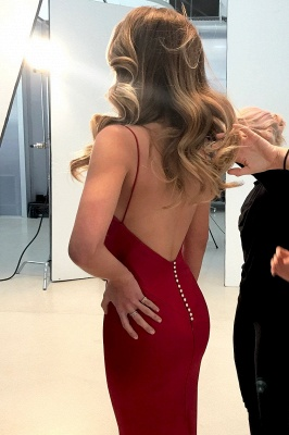 Spaghetti Straps Long Prom Dress UK | Mermaid Evening Party Gowns BA9271_4