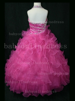 Beaded Organza Girls Pageant Dresses for Sale with Affordable Charming Wholesale Layered Gowns for_3