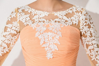 Sexy A-line Lace Chiffon Evening Dress UK 3/4-Length Sleeve_4