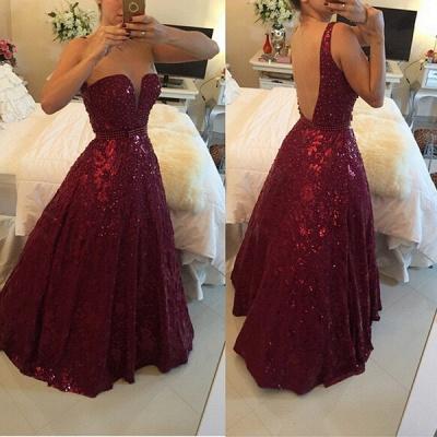 Sweetheart Beadings A-Line Evening Dress UKes UK Elegant Floor Length Prom Gowns_3