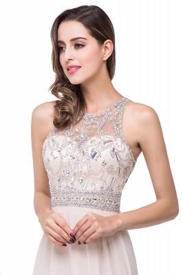Sexy Beadings Chiffon A-line Prom Dress UK Zipper Illusion_7