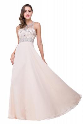 Sexy Beadings Chiffon A-line Prom Dress UK Zipper Illusion_4
