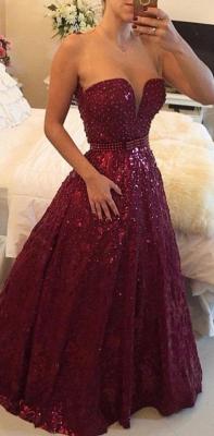 Sweetheart Beadings A-Line Evening Dress UKes UK Elegant Floor Length Prom Gowns_1