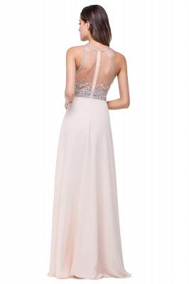 Sexy Beadings Chiffon A-line Prom Dress UK Zipper Illusion_3