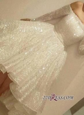 Bling Short Off-the-Shoulder Long-Sleeves Bling Tiers-Skirt Prom Dress UKes UK BA3706_2