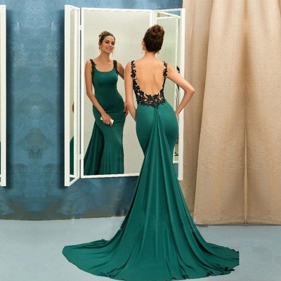 Scoop Green Evening Dress UK   Mermaid Ruffles Prom Dress UK_3
