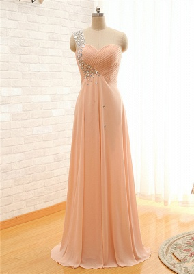 Sexy One-shoulder Sleeveless Chiffon Prom Dress UK With Crystals_2