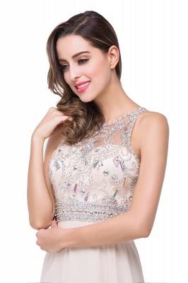 Sexy Beadings Chiffon A-line Prom Dress UK Zipper Illusion_2