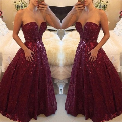 Sweetheart Beadings A-Line Evening Dress UKes UK Elegant Floor Length Prom Gowns_2
