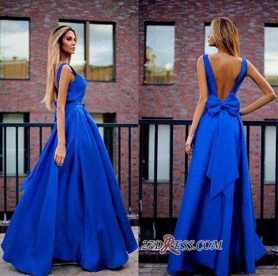 Open-Back Royal-Blue Sexy Floor-Length Bowknot Prom Dress UKes UK MM0003_1