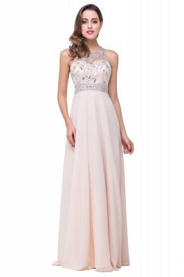 Sexy Beadings Chiffon A-line Prom Dress UK Zipper Illusion_5