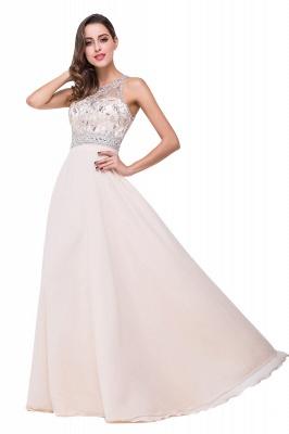 Sexy Beadings Chiffon A-line Prom Dress UK Zipper Illusion_6